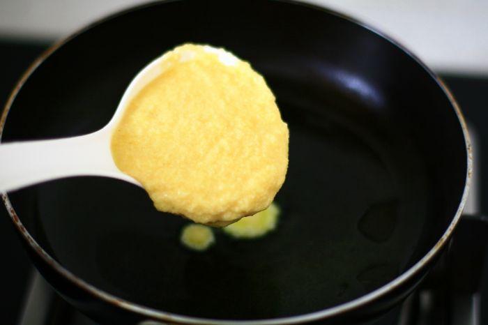 奶香豆渣鸡蛋饼的做法第4步图片步骤 www.027eat.com