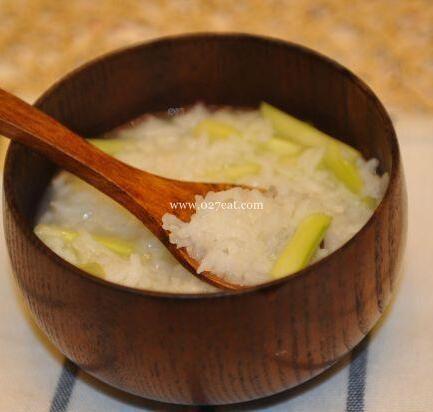 芦笋鸡粥的做法