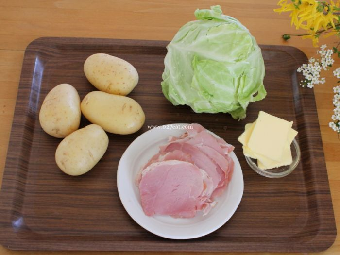 包菜土豆火腿的做法的做法