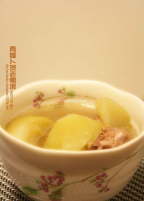 青萝卜煲老鸭汤的做法的做法