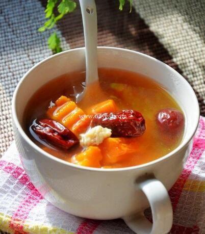 米酒南瓜红枣汤的做法