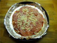 意大利香肠比萨的做法第6步图片步骤 www.027eat.com