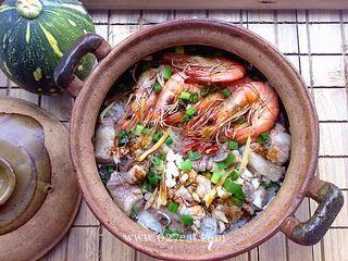 排骨大虾煲仔饭的做法第8步图片步骤 www.027eat.com