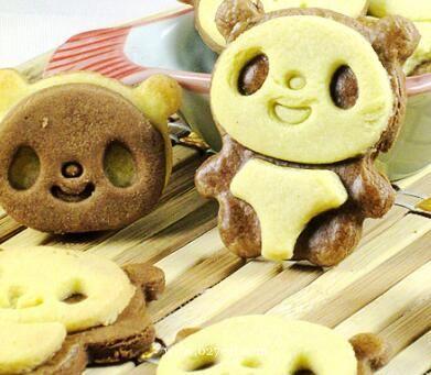 可爱熊猫立体饼干的做法