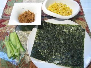 日式肉松玉米手卷饭的做法第1步图片步骤 www.027eat.com