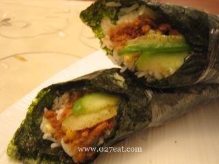 日式肉松玉米手卷饭的做法第5步图片步骤 www.027eat.com