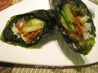 日式肉松玉米手卷饭的做法第6步图片步骤 www.027eat.com
