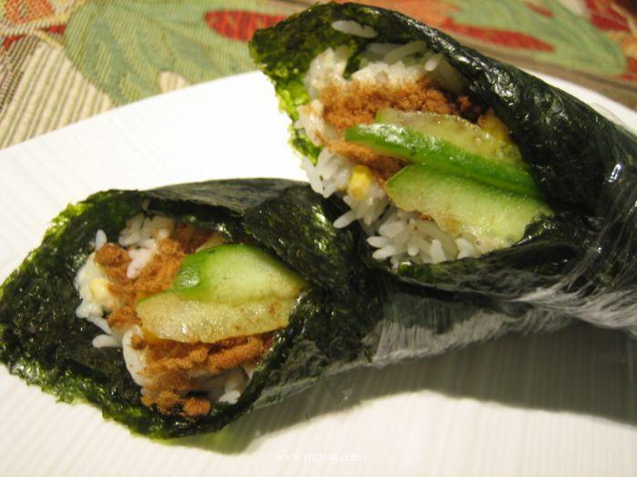 日式肉松玉米手卷饭的做法的做法