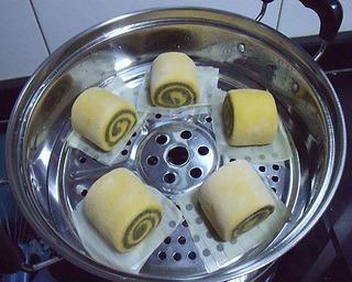 南瓜黑芝麻馒头的做法第10步图片步骤 www.027eat.com