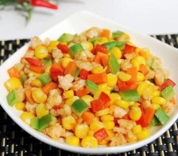 彩蔬炒虾仁的做法