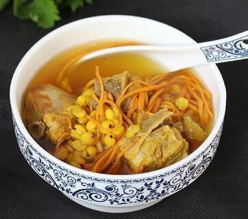 虫草菇排骨汤的做法