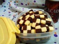 烤箱小吃 格子小饼干的做法